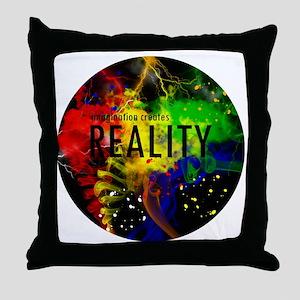 Imagination Creates Reality Throw Pillow
