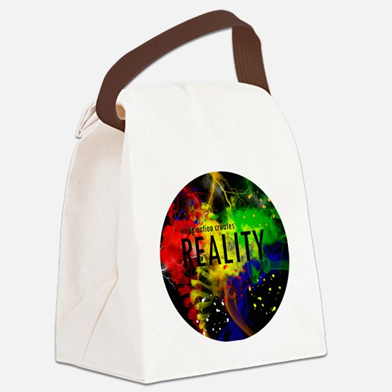 Imagination Creates Reality Canvas Lunch Bag
