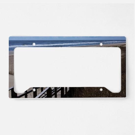 North Carolina Beach Walkway License Plate Holder