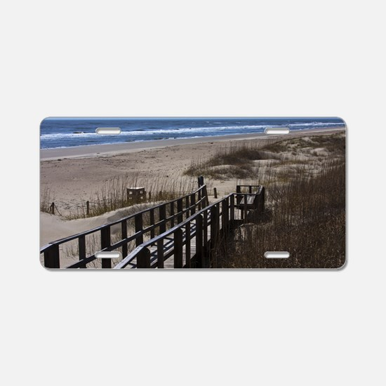 North Carolina Beach Walkwa Aluminum License Plate