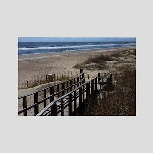 North Carolina Beach Walkway Rectangle Magnet