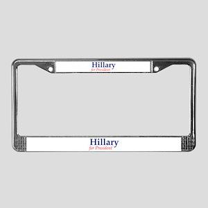 Hillary for President License Plate Frame