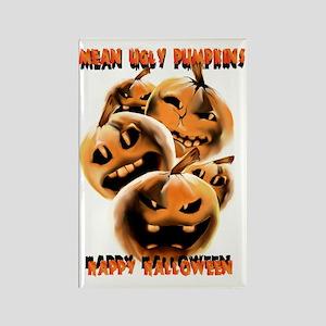 Mean Ugly PumpkinsTrans Rectangle Magnet