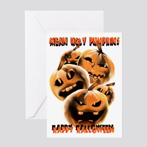 Mean Ugly PumpkinsTrans Greeting Card