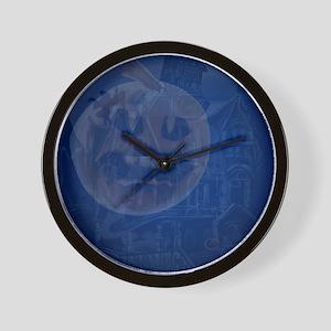 spookyInsideCardP Wall Clock