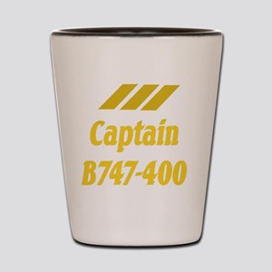 captain b747 2 Shot Glass