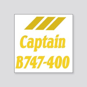 "captain b747 2 Square Sticker 3"" x 3"""