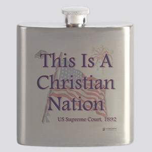 Christian Nation Flask