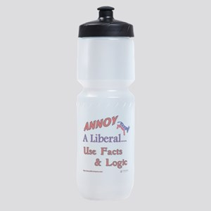 annoy a liberal Sports Bottle