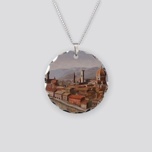 Florence, Italy Necklace Circle Charm