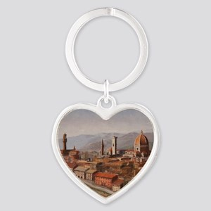 Florence, Italy Heart Keychain