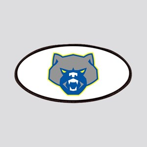 Angry Wolverine Head Front Retro Patch