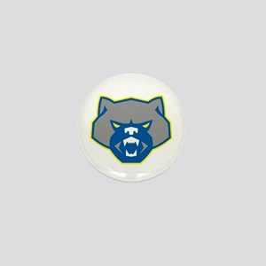 Angry Wolverine Head Front Retro Mini Button