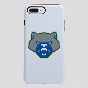 Angry Wolverine Head Front Retro iPhone 7 Plus Tou
