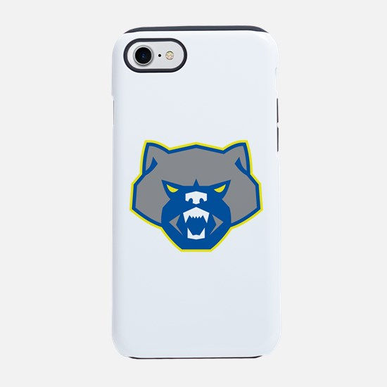 Angry Wolverine Head Front Retro iPhone 7 Tough Ca