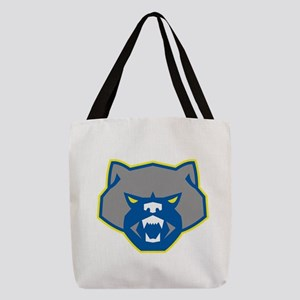 Angry Wolverine Head Front Retro Polyester Tote Ba