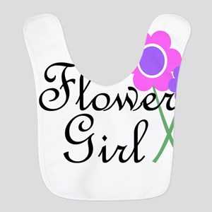 Purple Daisy Flower Girl Bib