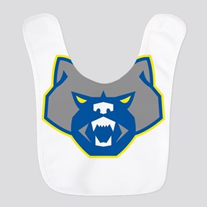 Angry Wolverine Head Front Retro Polyester Baby Bi