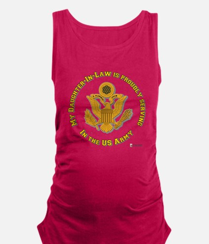 army eagle daughter-in-law.png Maternity Tank Top