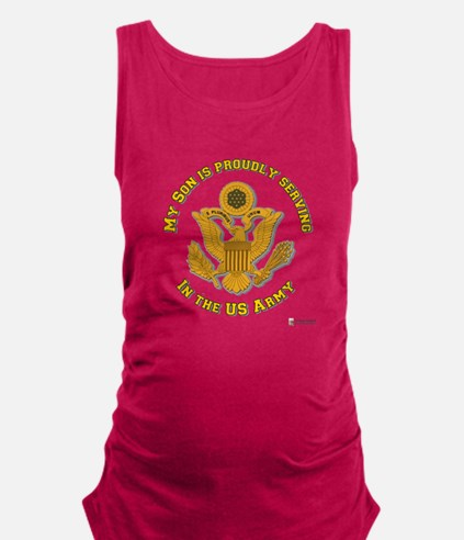 army eagle son.png Maternity Tank Top