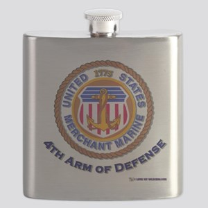 merchant Marine 4th arm Flask