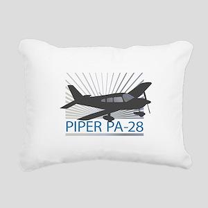 Aircraft Piper PA-28 Rectangular Canvas Pillow