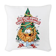 Do Not Open Until Christmas Woven Throw Pillow