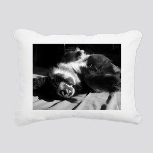Berner Sleeping Rectangular Canvas Pillow