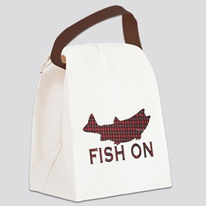 Fish on 2 Canvas Lunch Bag