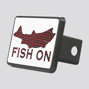 Fish on 2 Rectangular Hitch Cover