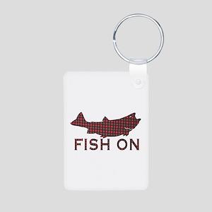 Fish on 2 Aluminum Photo Keychain