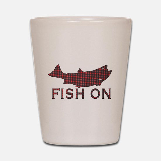 Fish on 2 Shot Glass