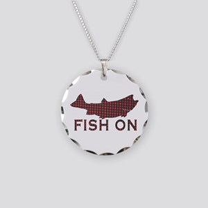 Fish on 2 Necklace Circle Charm