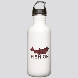Fish on 2 Stainless Water Bottle 1.0L