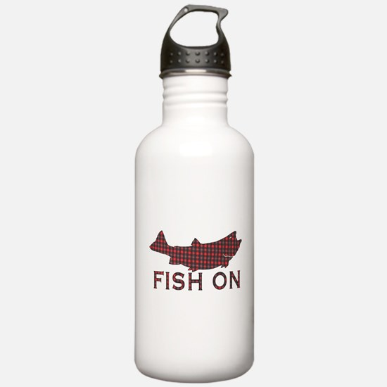 Fish on 2 Water Bottle
