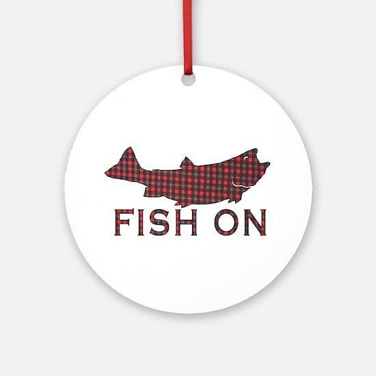 Fish on 2 Ornament (Round)