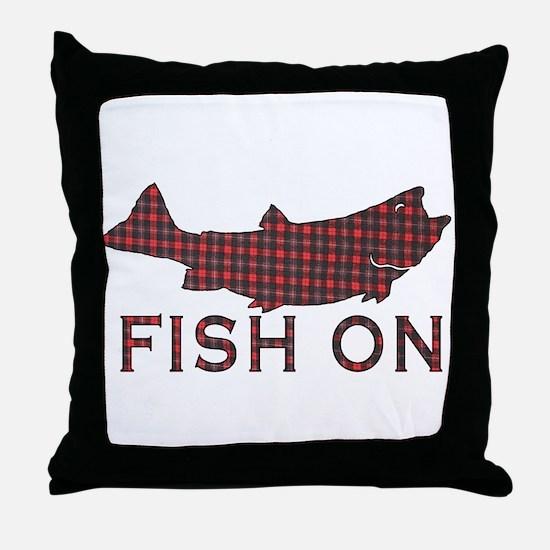 Fish on 2 Throw Pillow