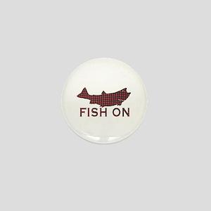 Fish on 2 Mini Button