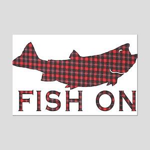 Fish on 2 Mini Poster Print