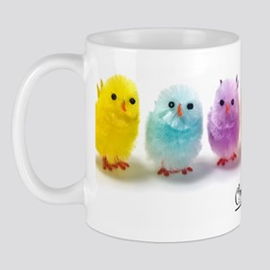 2-Easter chicks in a row Mug