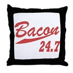 Bacon 247 Throw Pillow