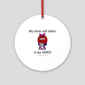 Ima Hero Donor Round Ornament