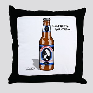 Skydiving Beer Throw Pillow