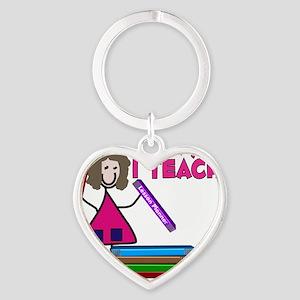 Teacher Heart Keychain