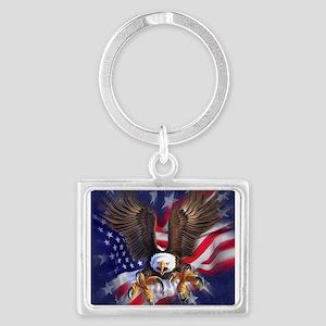 Patriotic Eagle Keychains