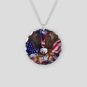 Patriotic Eagle Necklace