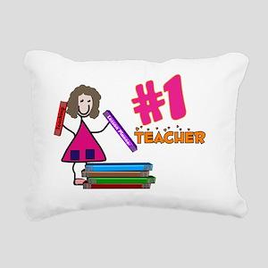 Teacher Number 1 Rectangular Canvas Pillow