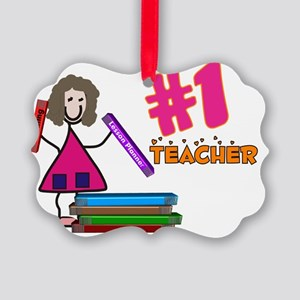 Teacher Number 1 Picture Ornament