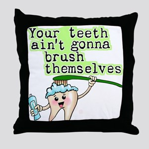 Funny Dental Humor Throw Pillow