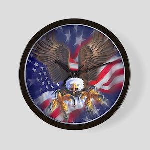 Patriotic Eagle Wall Clock